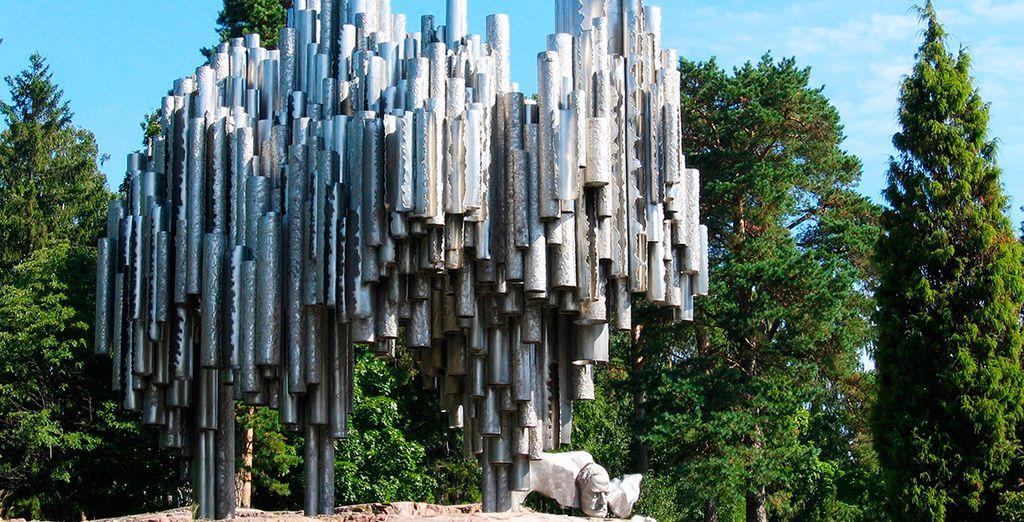 No te pìerdas el monumento a Sibelius