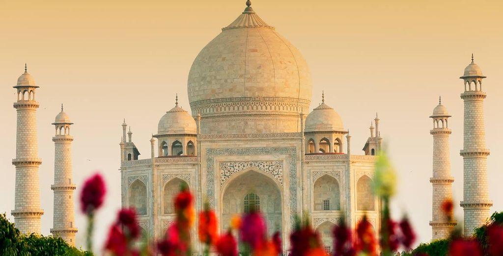 Contempla la majestuosidad del Taj Mahal, una de las siete maravillas del mundo