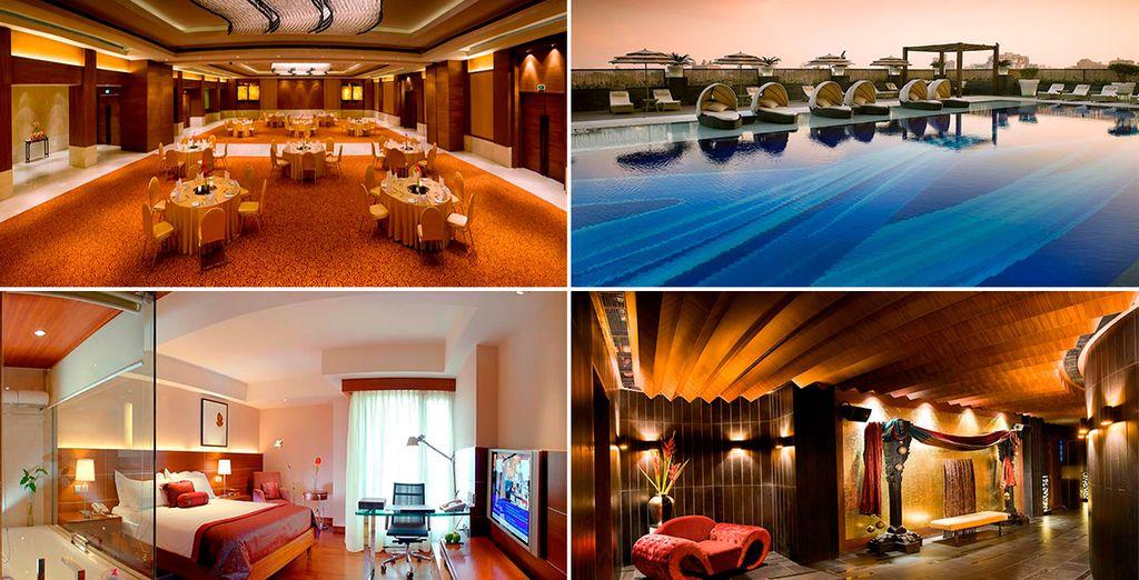 Las primeras 2 noches en Delhi, te alojarás en el magnífico The LaLiT New Delhi 5* o similar