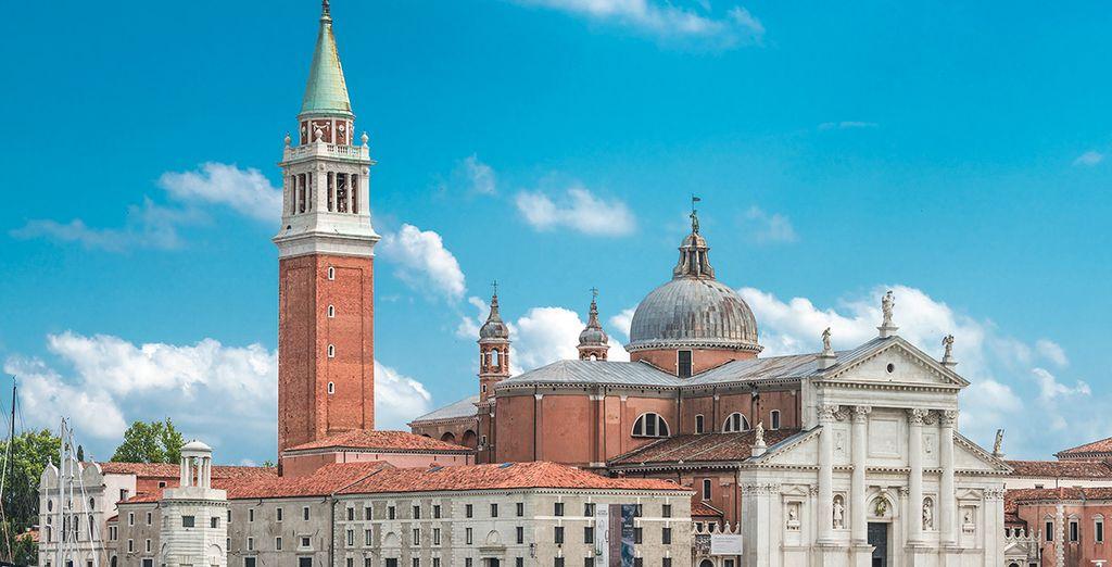 Un hotel con vistas a San Giorgio Maggiore