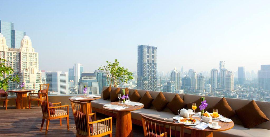 Espectaculares vistas desde el Hotel Anantara Sathorn en Bangkok