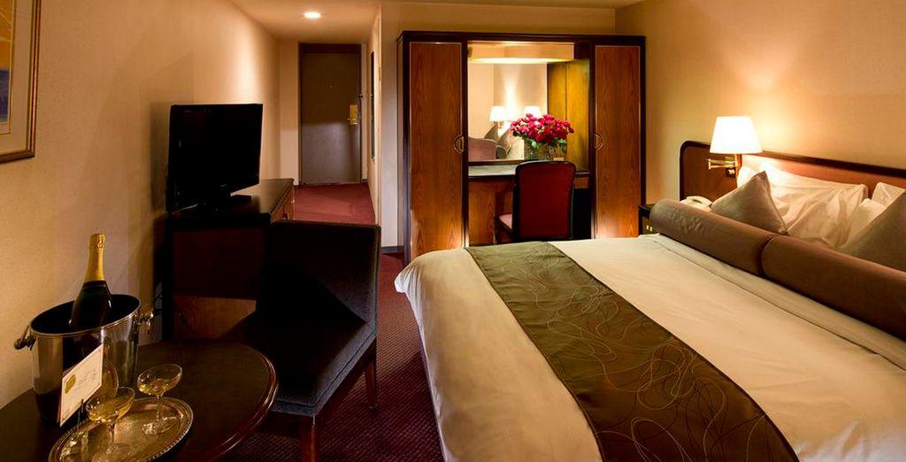 Una habitación para relajarse tras un dia de turismo