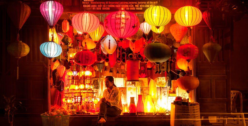 Descubra las lámparas de seda típicas del país