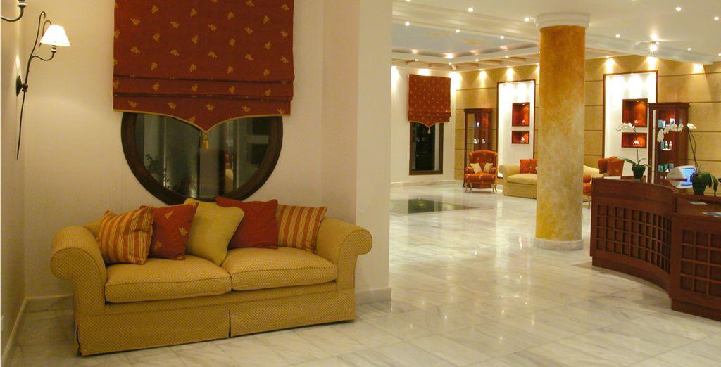 El lobby del impresionante Spa