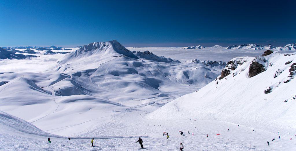 Sol y nieve en un marco incomparable en Les Arcs