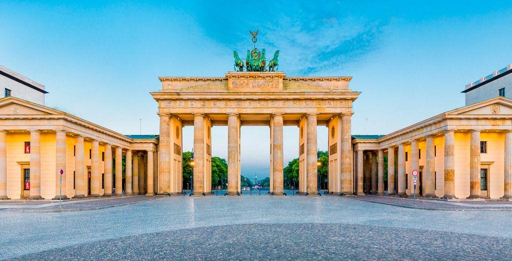 Fotografía la famosa Puerta de Brandenburgo