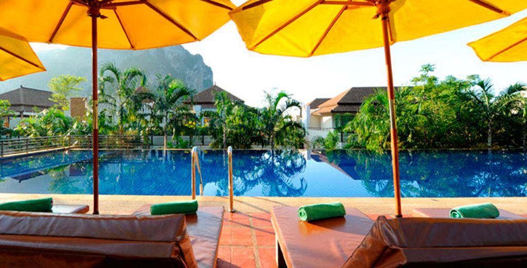 Una piscina natural de agua salada para su descanso