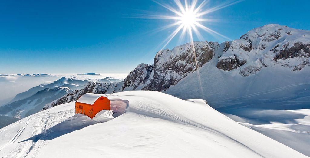 El paisaje montañoso te encantará, ¡No pierdas la ocasión para esquiar!