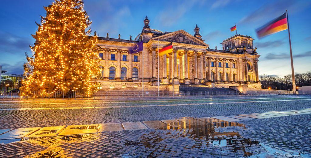 La ciudad tiene un encanto especial en Navidad