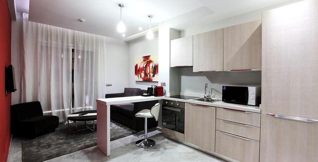 Te alojarás en una espaciosa Suite Exclusive