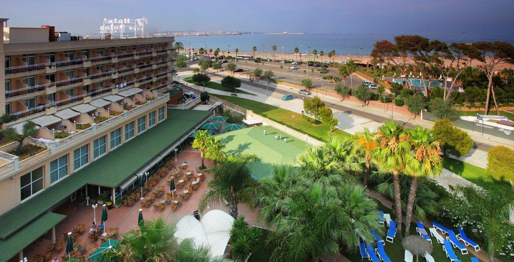 Espectaculares vistas a la playa desde su hotel