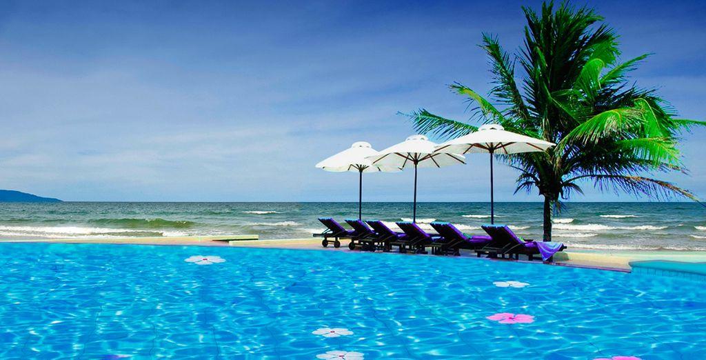 Una piscina practicamente en la playa