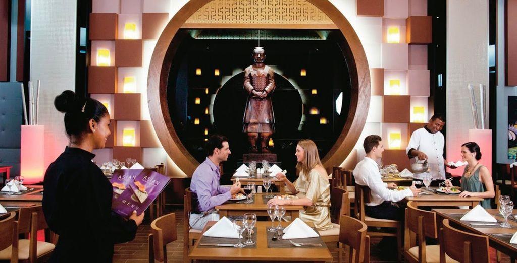 Disfrute de la gastronomía del lugar