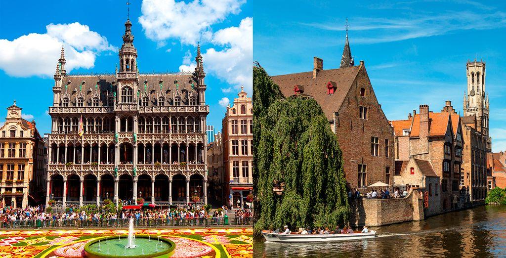 Bienvenido a Bélgica, un bello combinado te espera a través de las ciudades de Bruselas y brujas