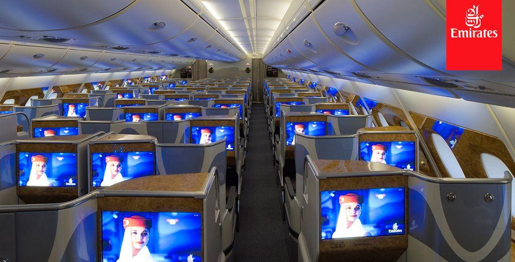 El entretenimiento a bordo de Emirates, elegido el mejor del mundo desde 2005