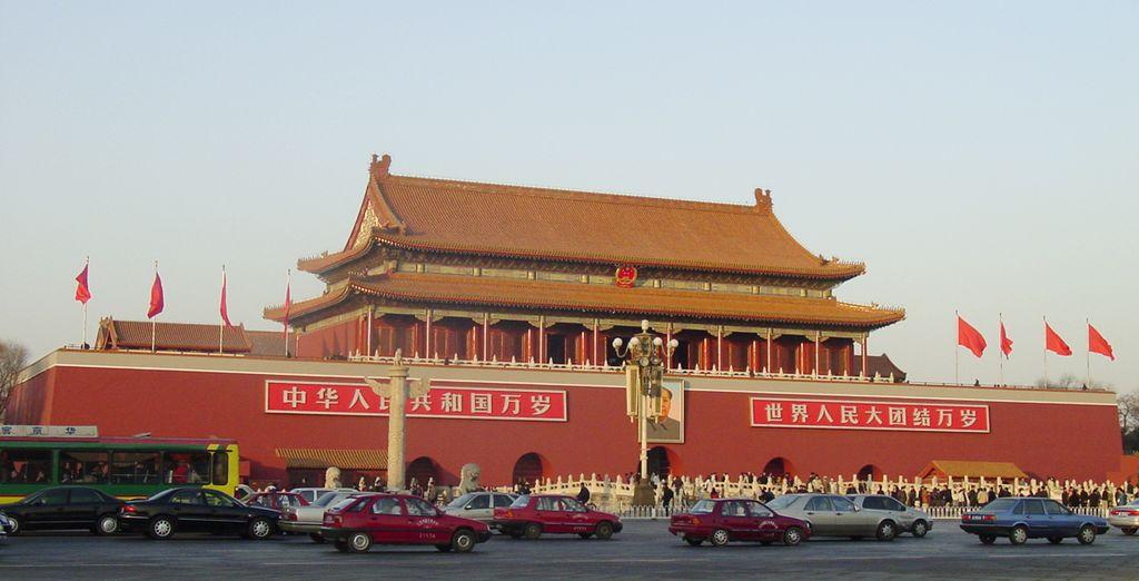 La emblemática Plaza de Tian'an Men