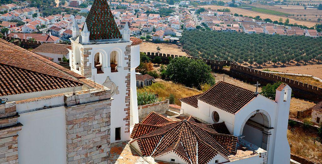 En el centro de la bonita ciudad de Estremoz, centro histórico del Alto Alentejo