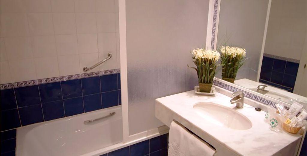 Con tu baño privado completamente equipado