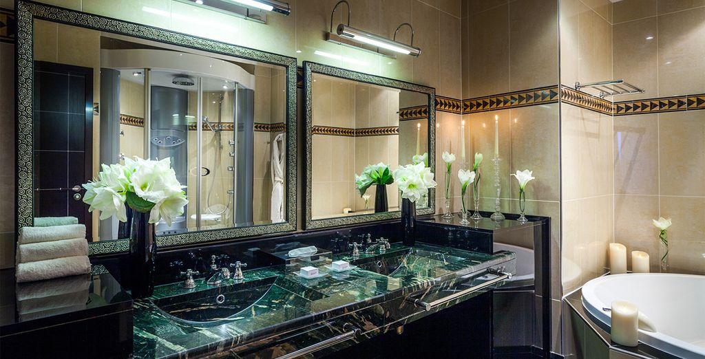 Baños amplios y completos para su estancia