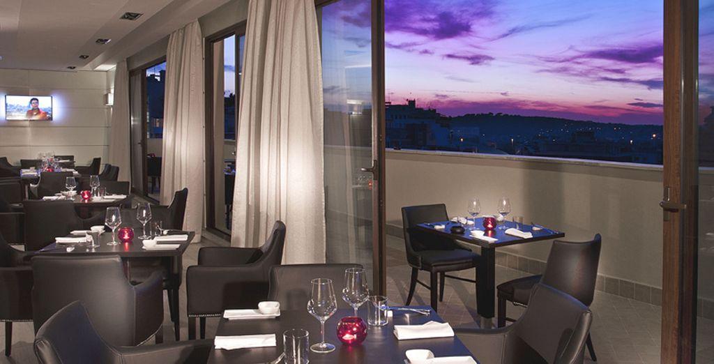 Disfruta de una cena romántica con preciosas vistas