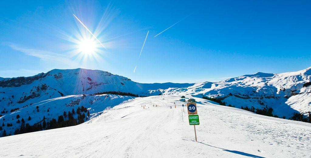 Disfrute de 283 pistas de esquí