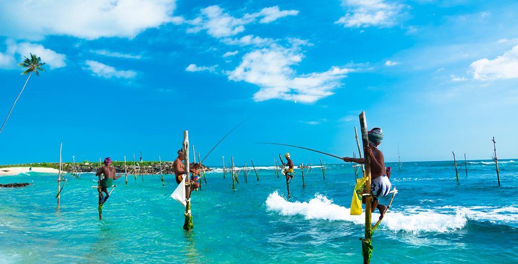 Disfrute de los pescadores de la zona