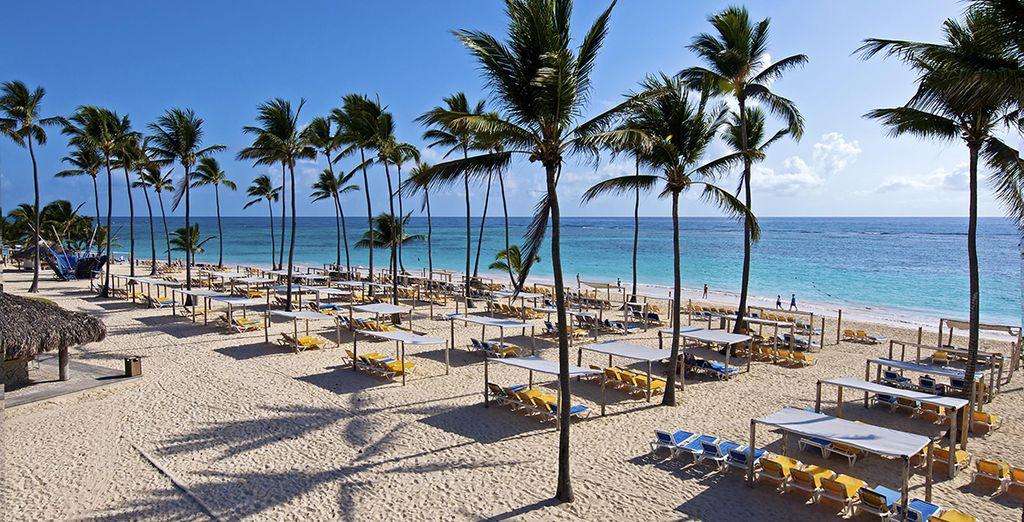 Un hotel situado en primera línea de playa