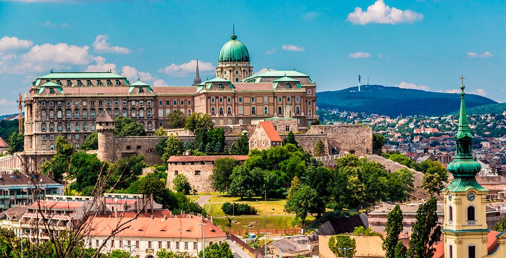 Sube al Castillo de Buda, y contempla las bellas vistas desde su terraza