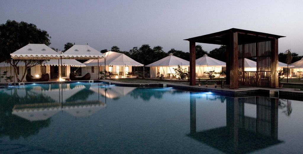 En Pushkar se alojará en el Greenhouse Resort