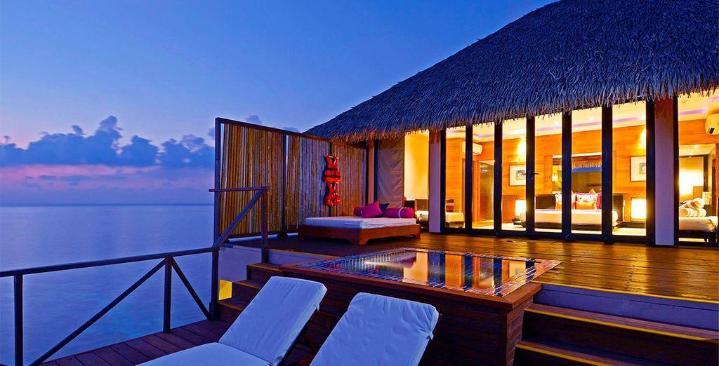Tu Sunrise Water Villa, un espacio íntimo y lujoso...