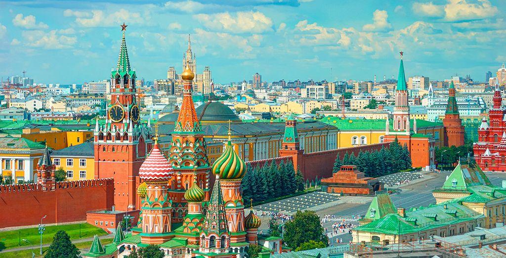 Pondrás rumbo a Moscú, una ciudad llena de sorpresas