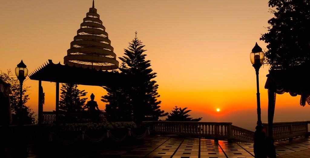 Visitarás, además, el Wat Doi Suthep...