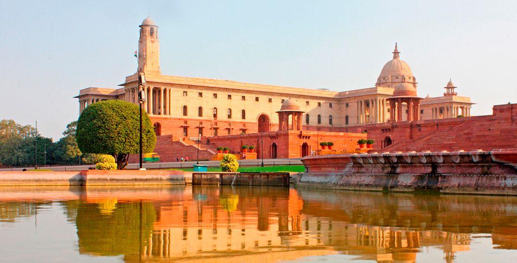 Raj Path, una de las avenidas más famosas de Delhi