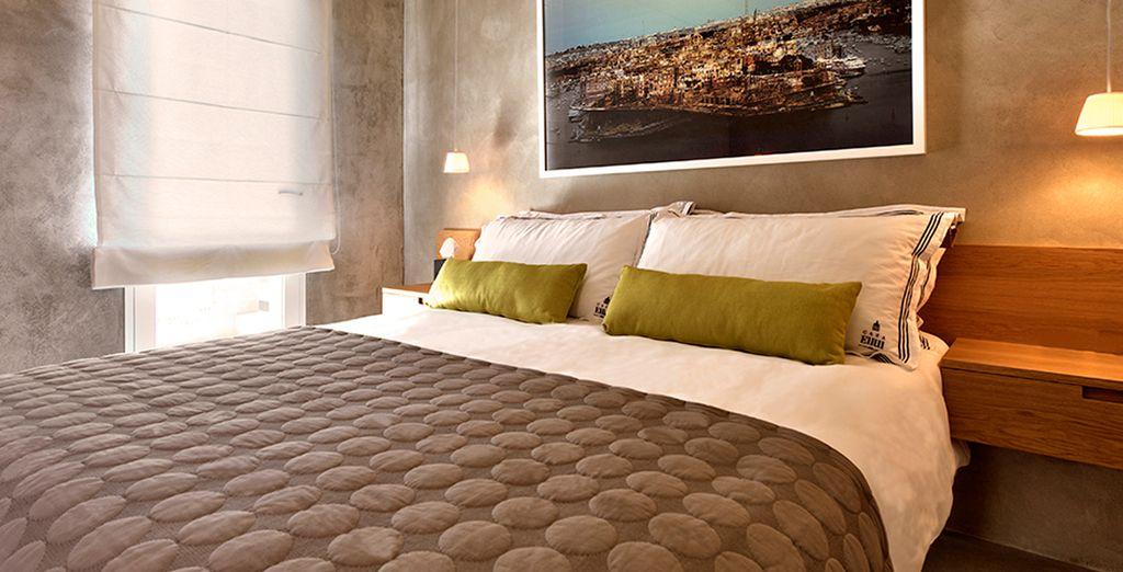 Disfrute de su preciosa y moderna habitación