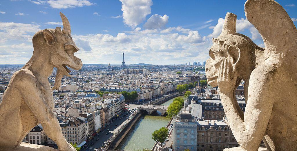 ... y las famosas gárgolas de la Catedral de Notre Dame