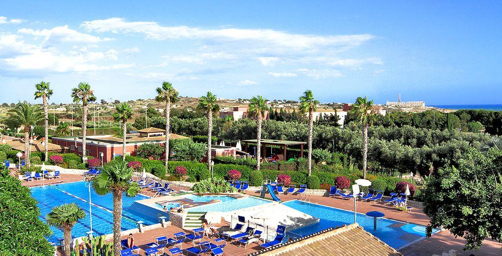 IGV Club Baia Samuele 4*, se encuentra al sur de la costa de Sicilia