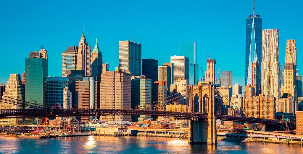 Admira el skyline neoyorkino