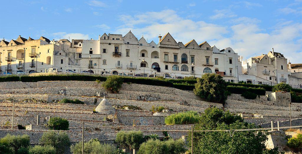 Bari, con vistas a las aguas del Adriático e importante puerto turístico y comercial
