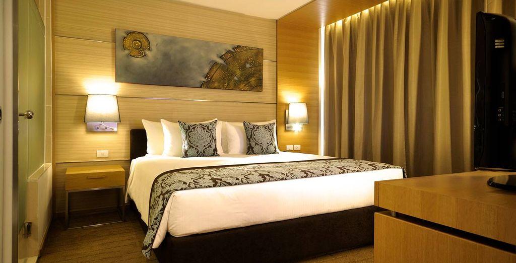 Su habitación en el Hotel Anantara Sathorn en Bangkok