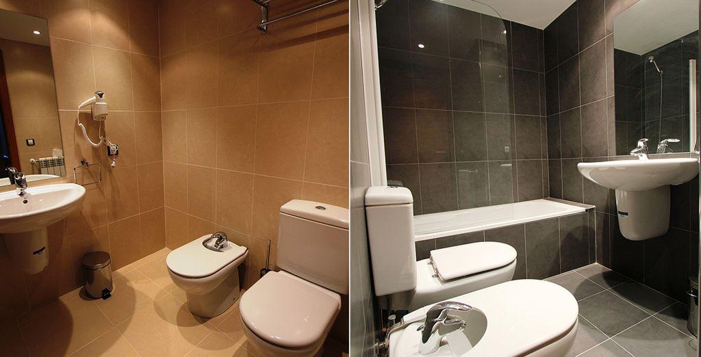 Profitez de votre agréable salle de bain pour vous détendre