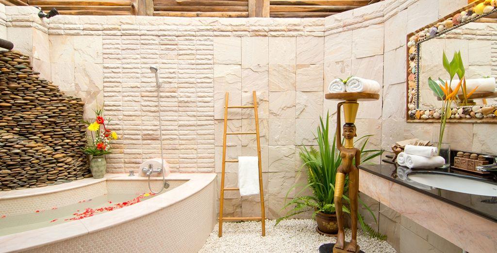 Et salle de bains pleine de charme !