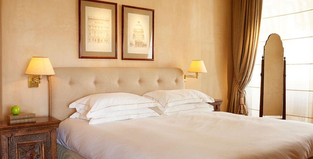 Installez-vous confortablement dans une des chambres
