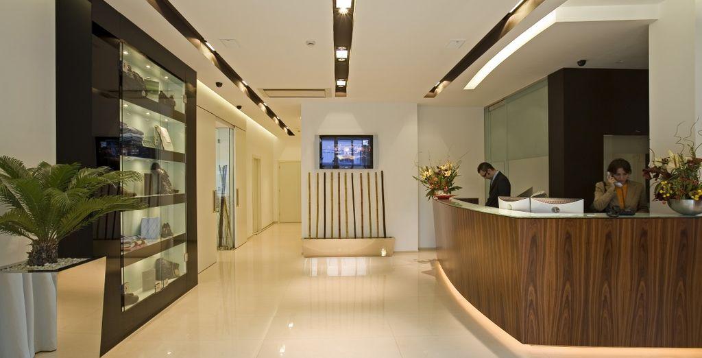 un hôtel au design minimaliste