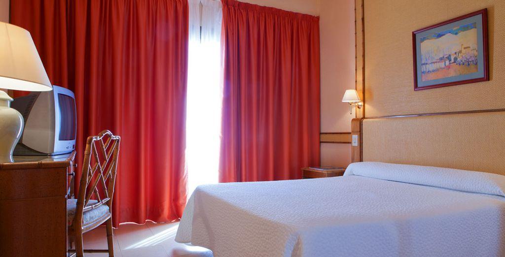Le confort de la chambre standard sera au rendez-vous