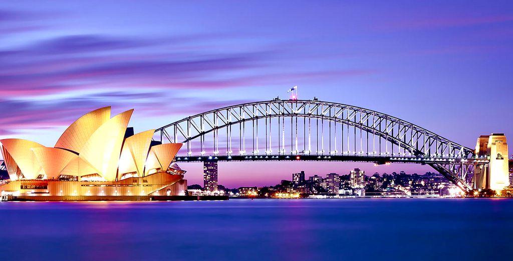 Photographie de la ville de Sydney la nuit