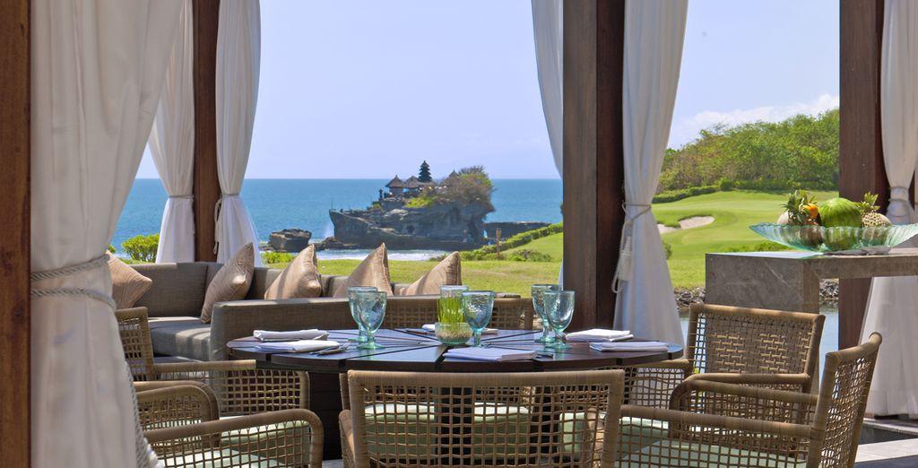 Déjeunez au restaurant Merica face à la baie