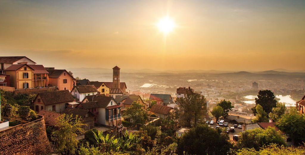Photographie de la ville d'Antananarivo dans le sud de Madagascar