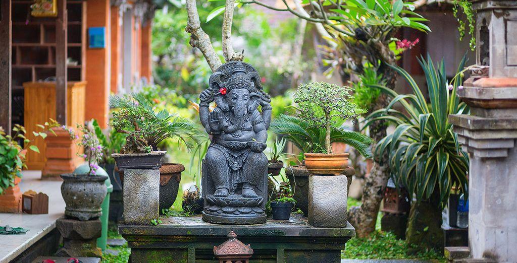 Vous visiterez Ubud le coeur culturel de l'île