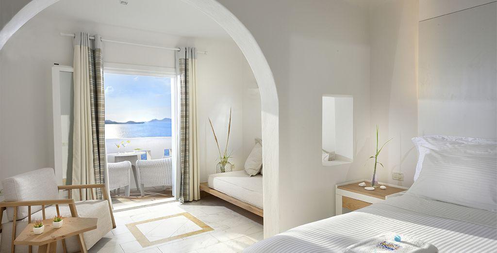 Découvrez l'atmosphère romantique de votre chambre Sea View...