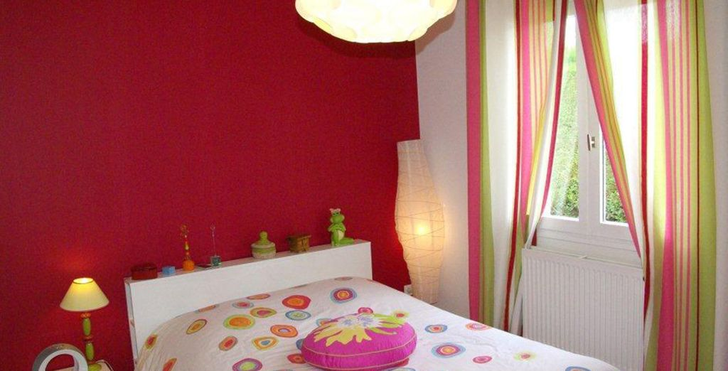 Des chambres colorées
